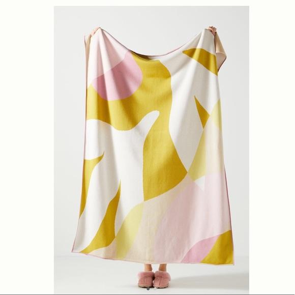 Anthropologie Rosehip Throw Blanket